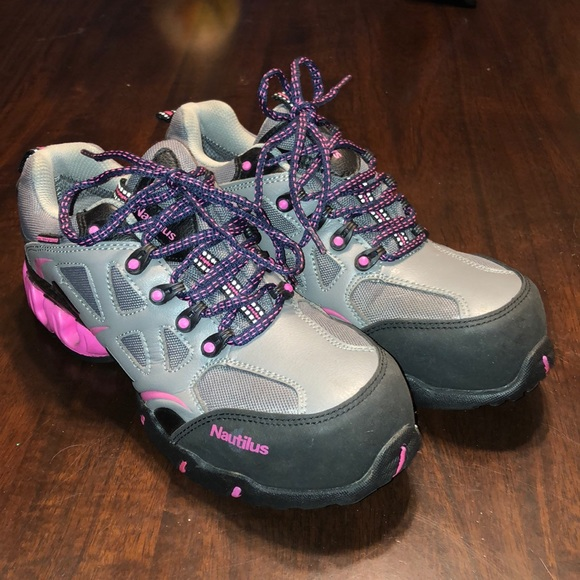 0e0145924f9 Nautilus Steel Toe ESD Athletic Gray/Pink Sneakers
